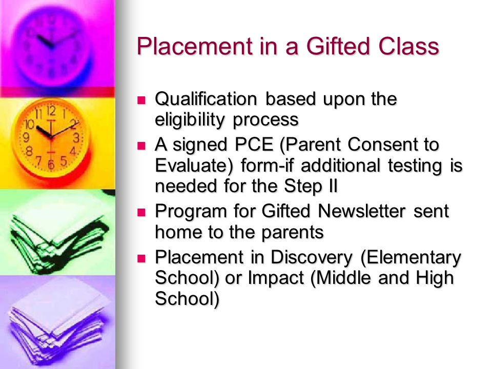 Placement in a Gifted Class