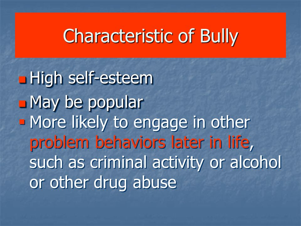 Characteristic of Bully