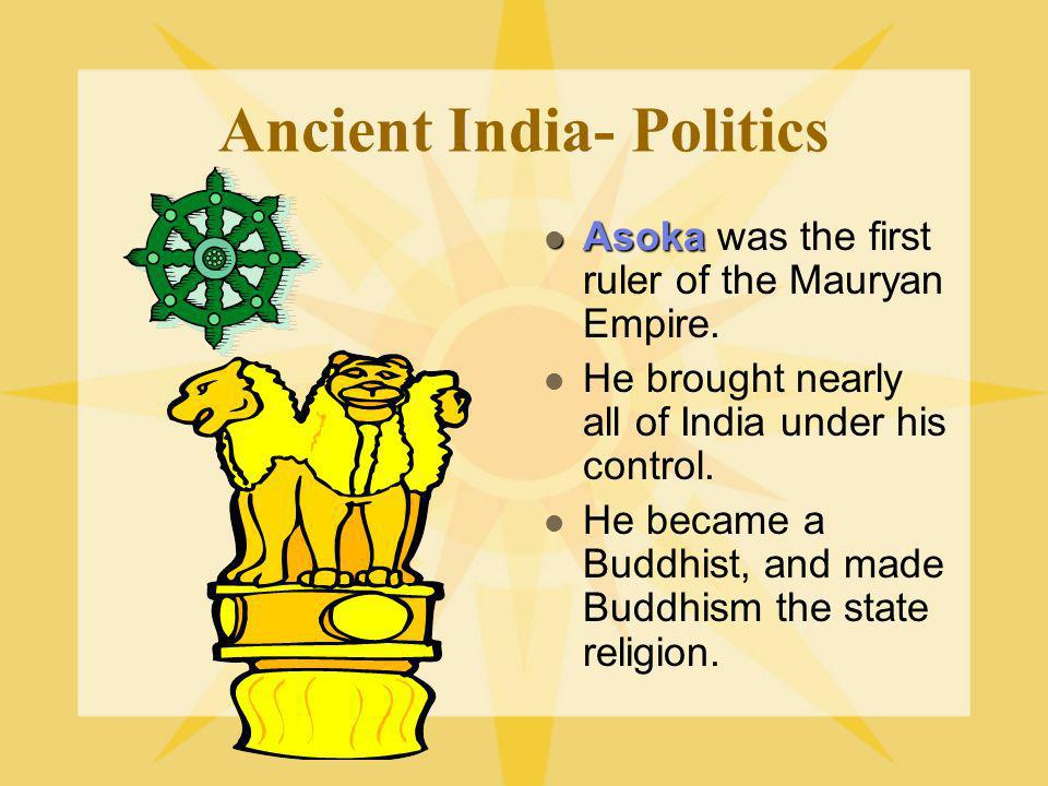 Ancient India- Politics