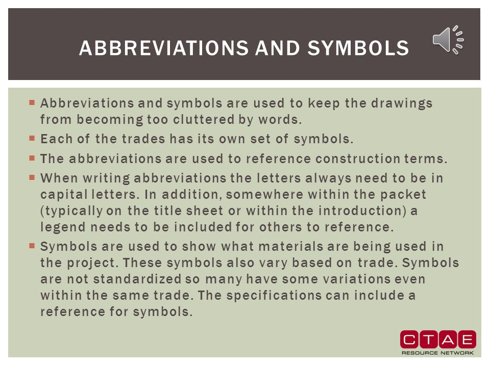 Construction drawing occupational safety and fundamentals ppt abbreviations and symbols malvernweather Gallery