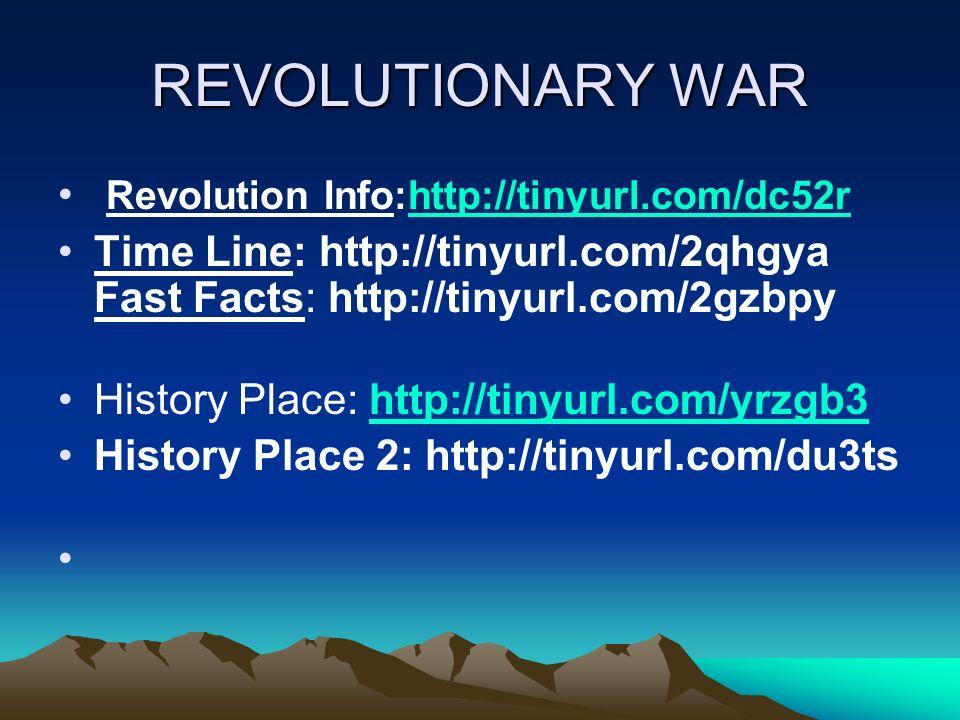 REVOLUTIONARY WAR Revolution Info:http://tinyurl.com/dc52r