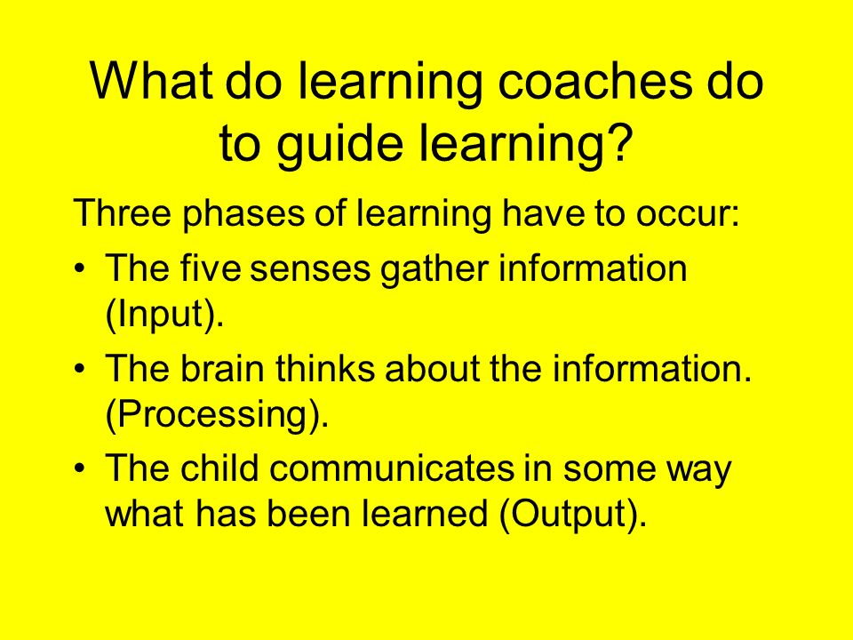 What do learning coaches do to guide learning