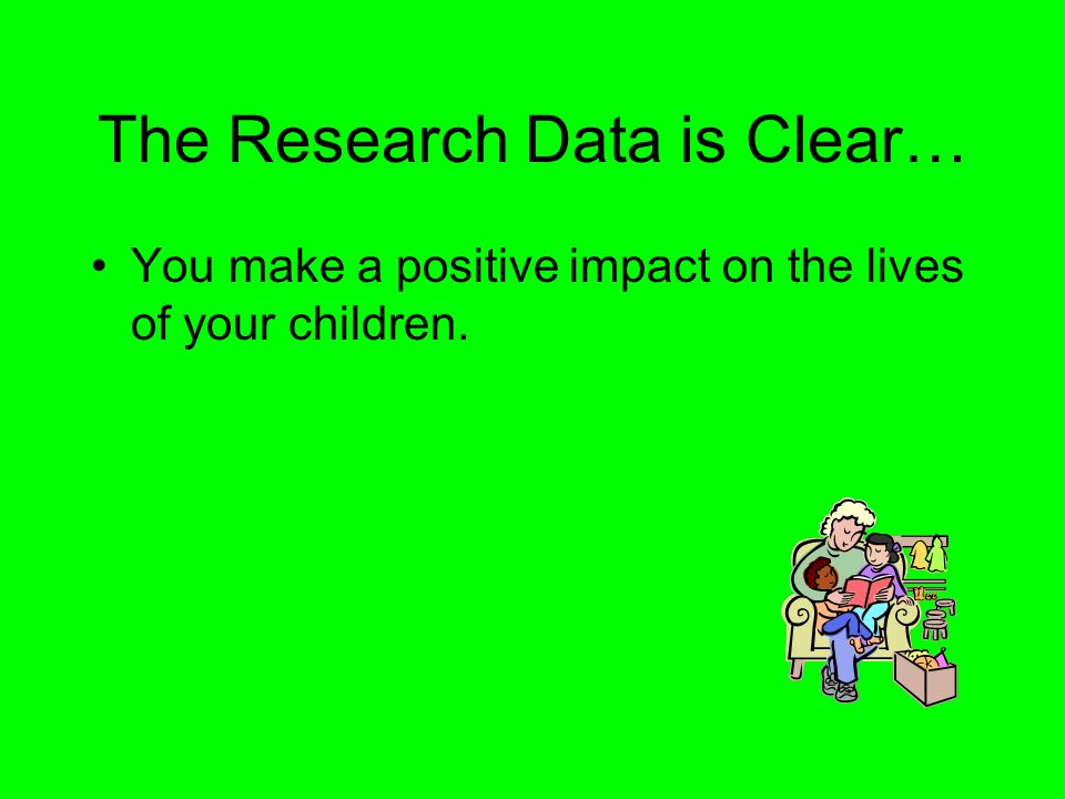 The Research Data is Clear…