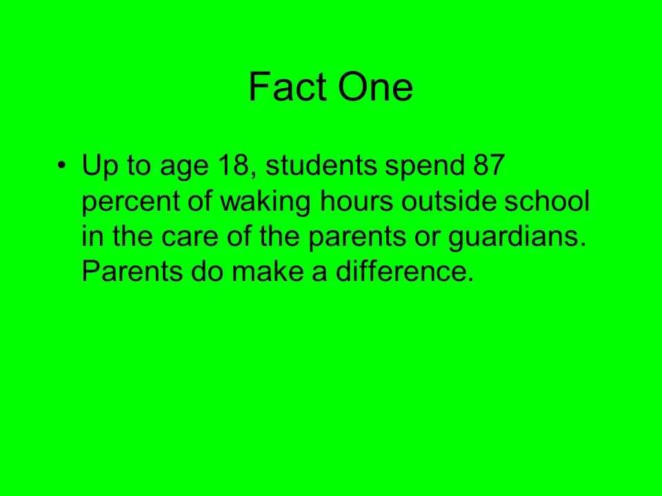 Fact One