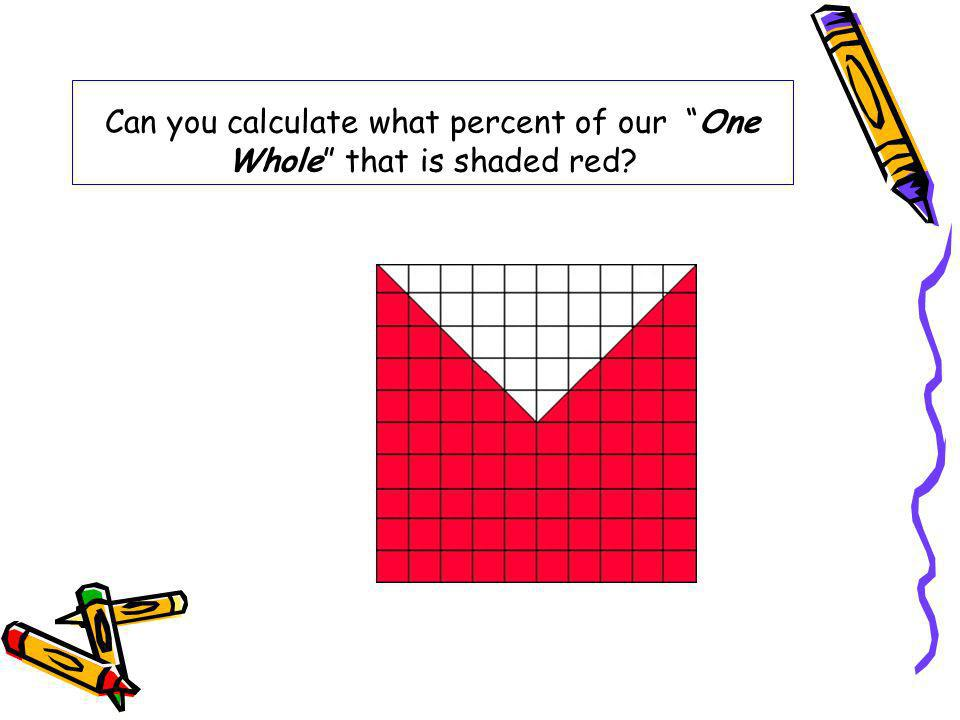 Can you calculate what percent of our One Whole that is shaded red