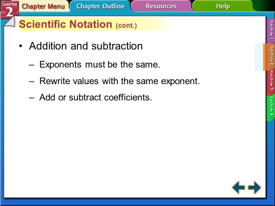 Scientific Notation (cont.)