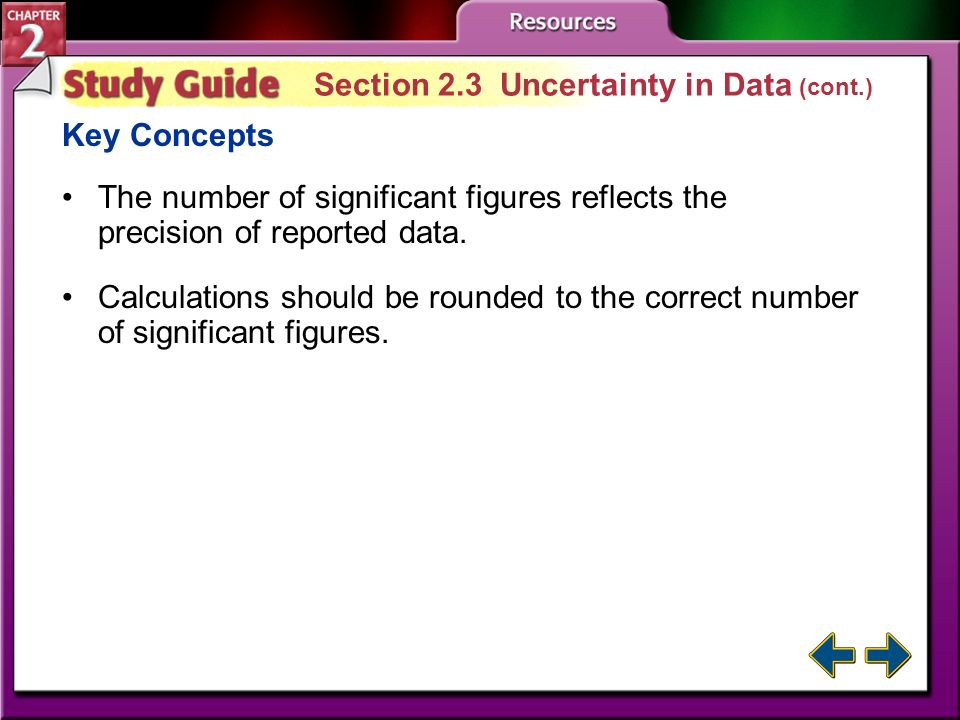 Section 2.3 Uncertainty in Data (cont.)