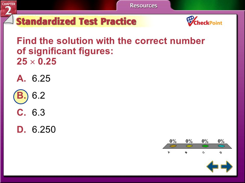 Find the solution with the correct number of significant figures: 25  0.25