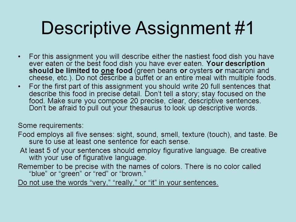 Descriptive Assignment #1