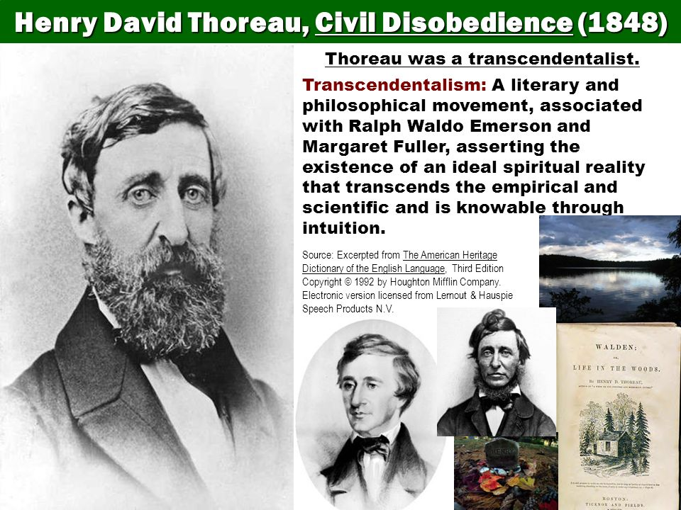 Henry David Thoreau, Civil Disobedience (1848)