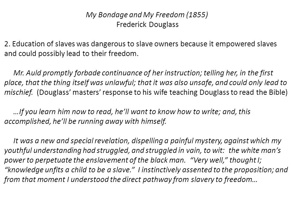 My Bondage and My Freedom (1855)