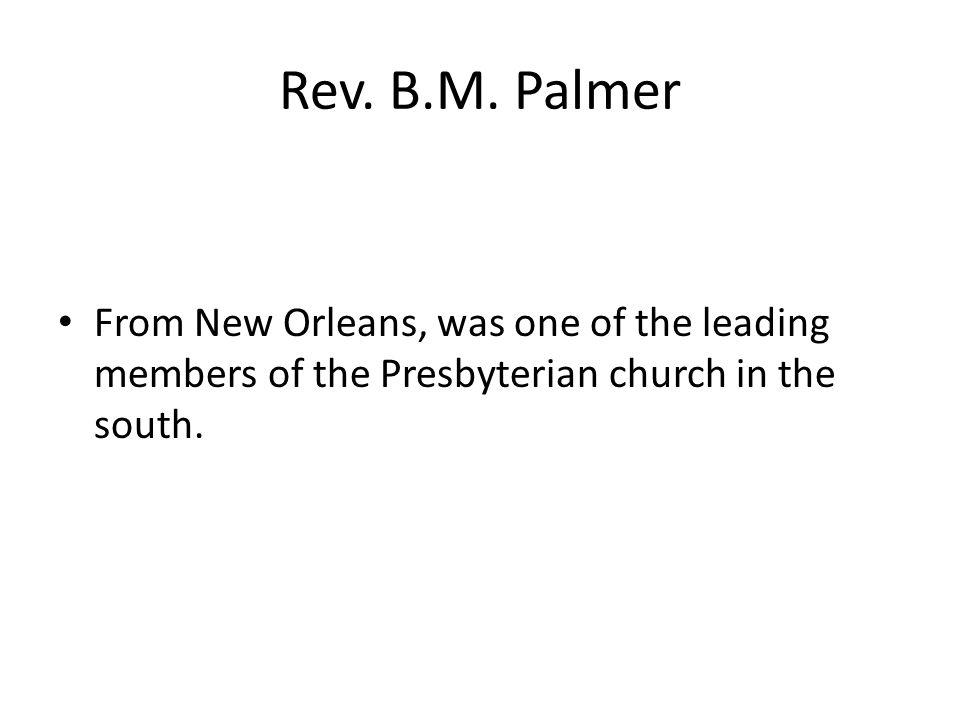 Rev. B.M.