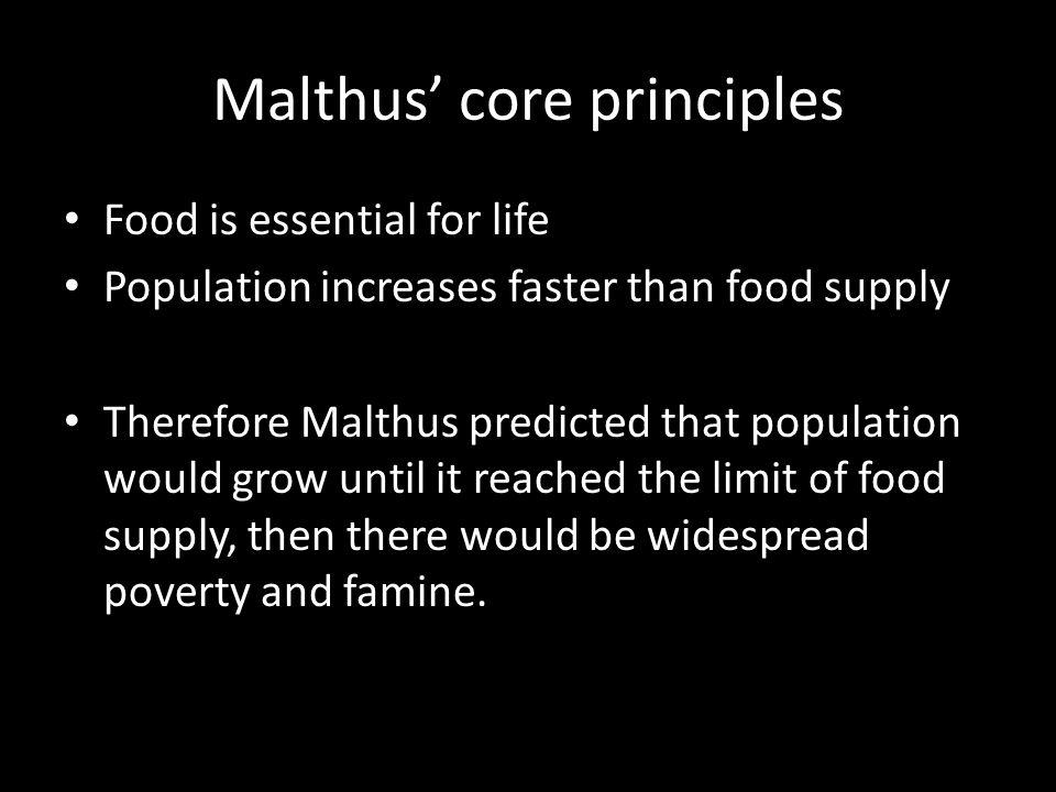 Malthus' core principles