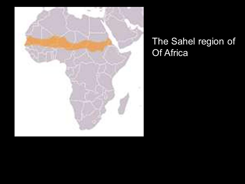 The Sahel region of Of Africa