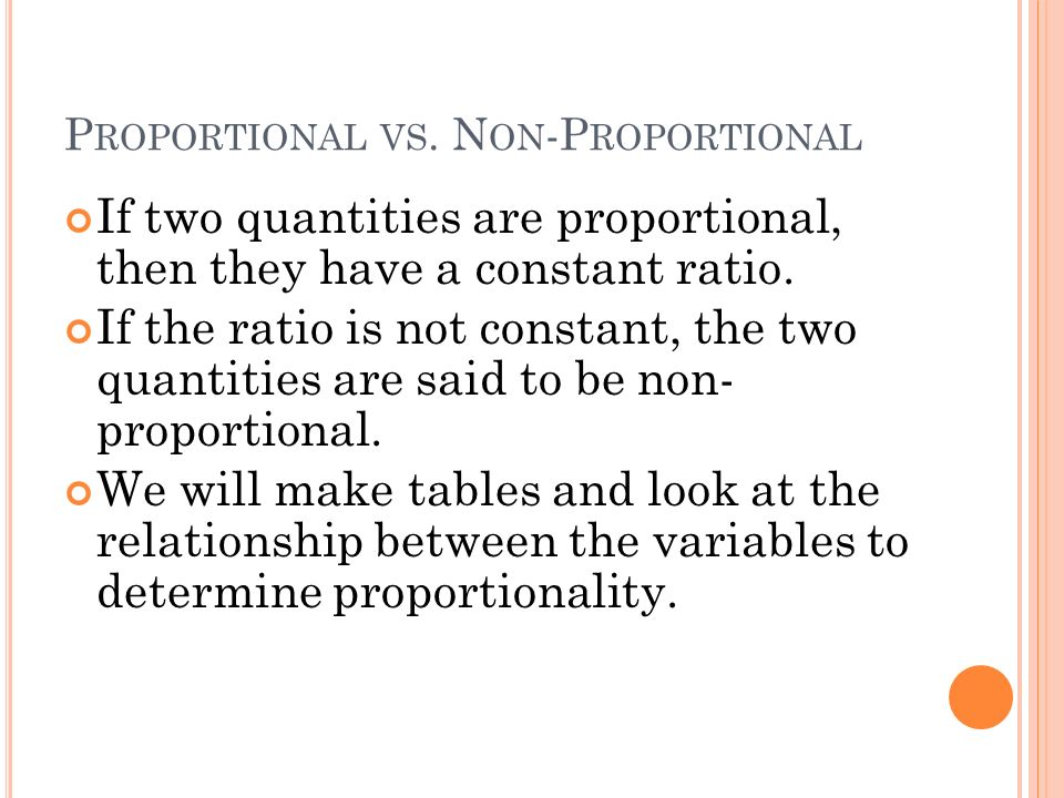 Proportional vs. Non-Proportional