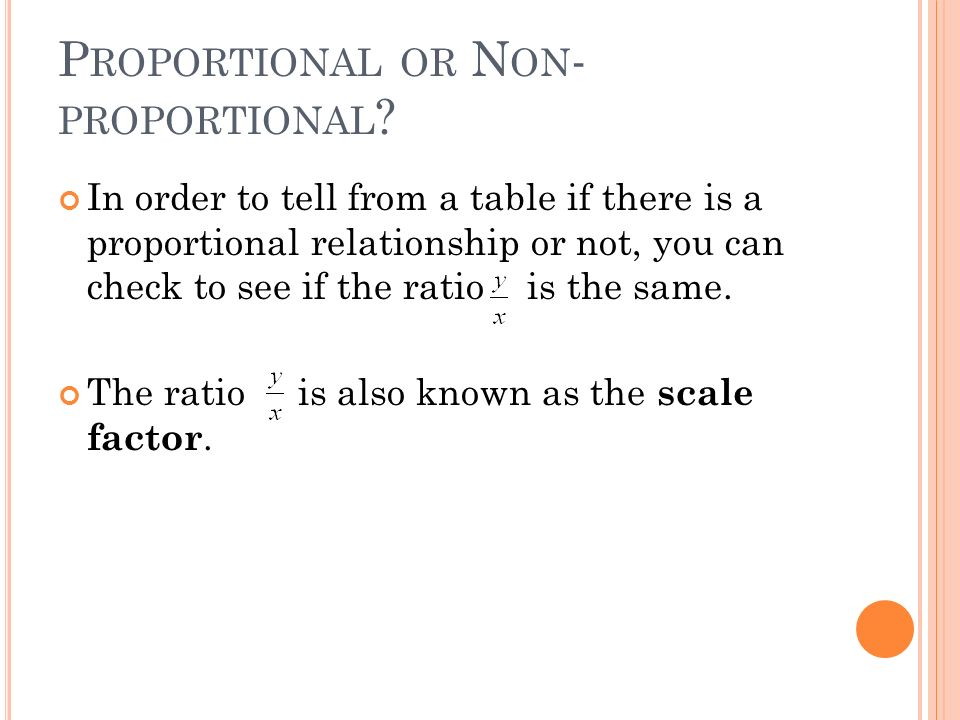 Proportional or Non-proportional
