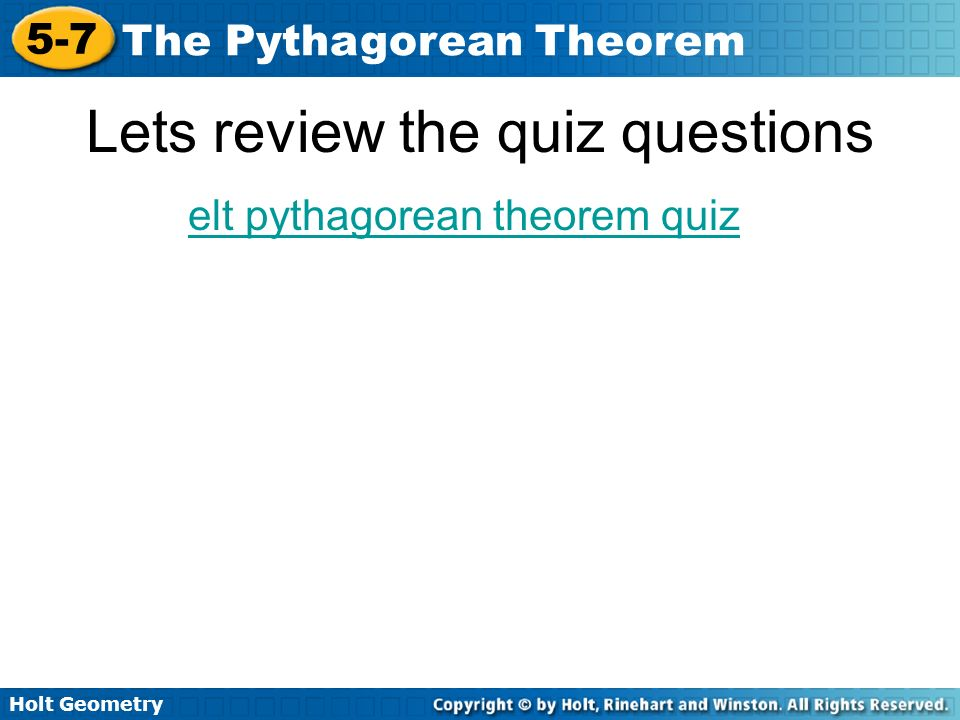 Lets review the quiz questions