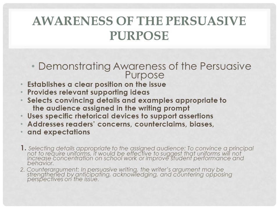 Awareness of the Persuasive Purpose