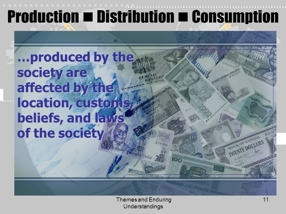 Production  Distribution  Consumption