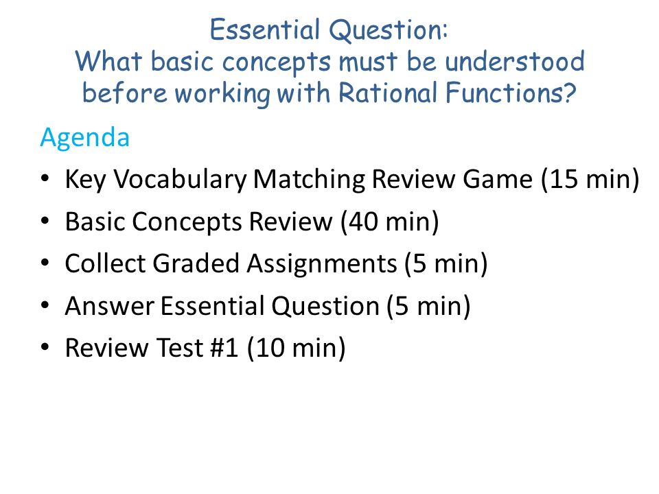 Key Vocabulary Matching Review Game (15 min)