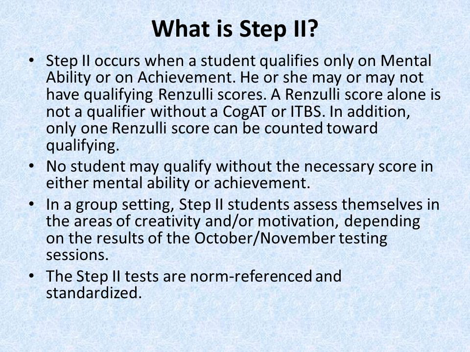 What is Step II