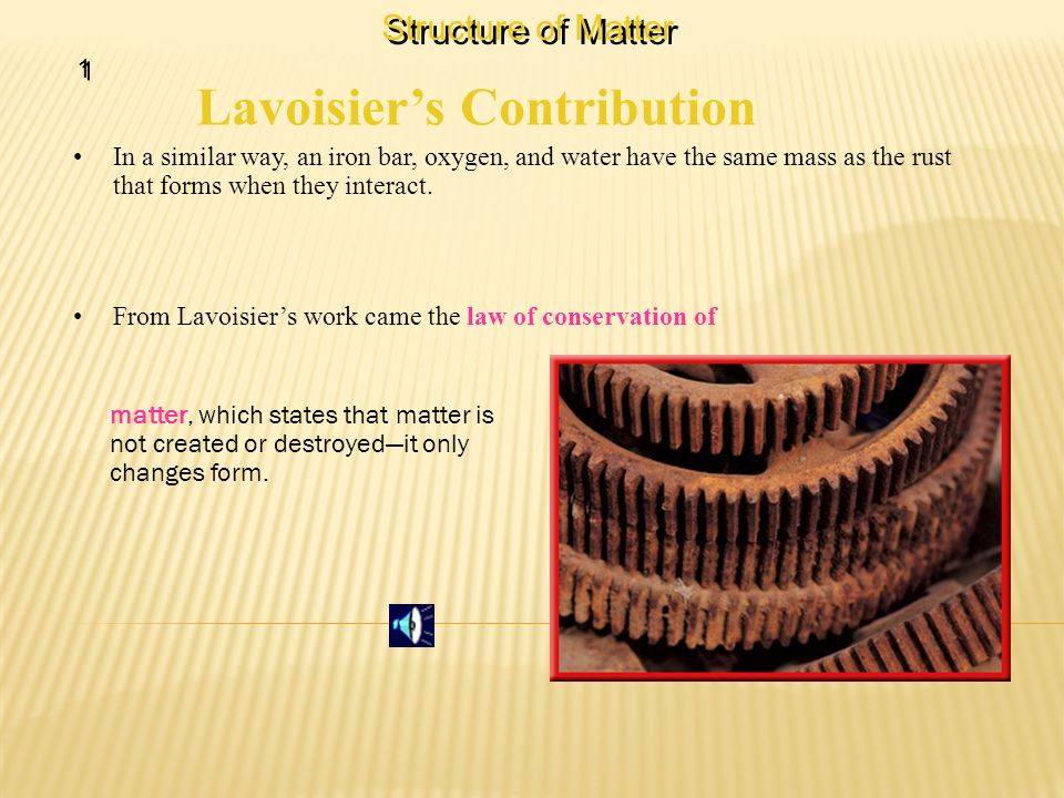 Lavoisier's Contribution