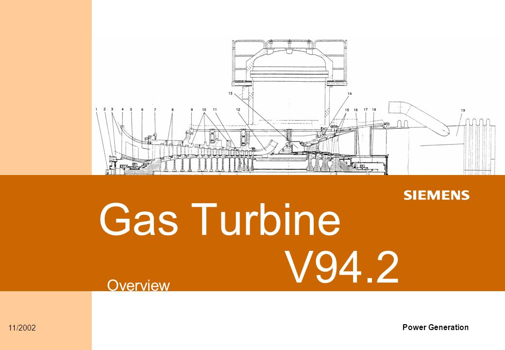 Content Gas Turbine Overview V94 2 Gas Turbine Product