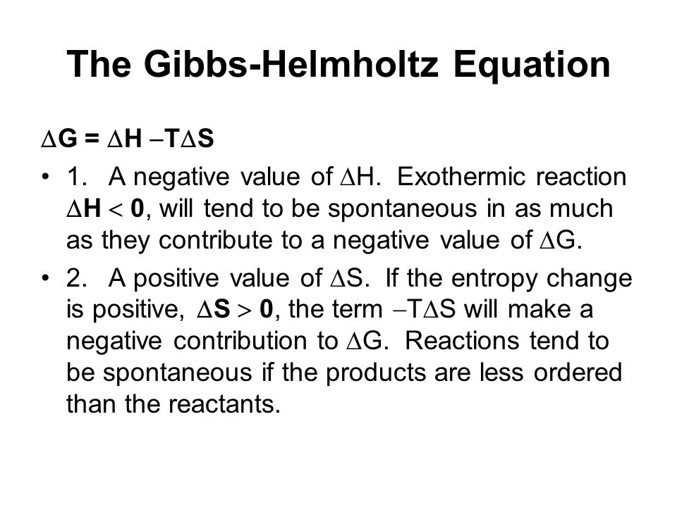 The Gibbs-Helmholtz Equation