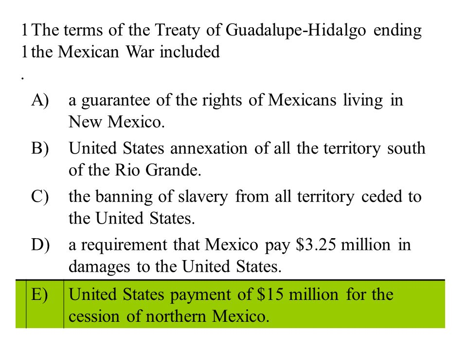 a comparison of slavery in the united states and mexico The united states had recently acquired a vast territory -- the result of its war with mexico should the territory allow slavery.