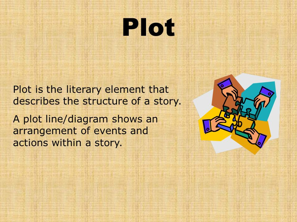 Plot Plot is the literary element that describes the structure of a story.