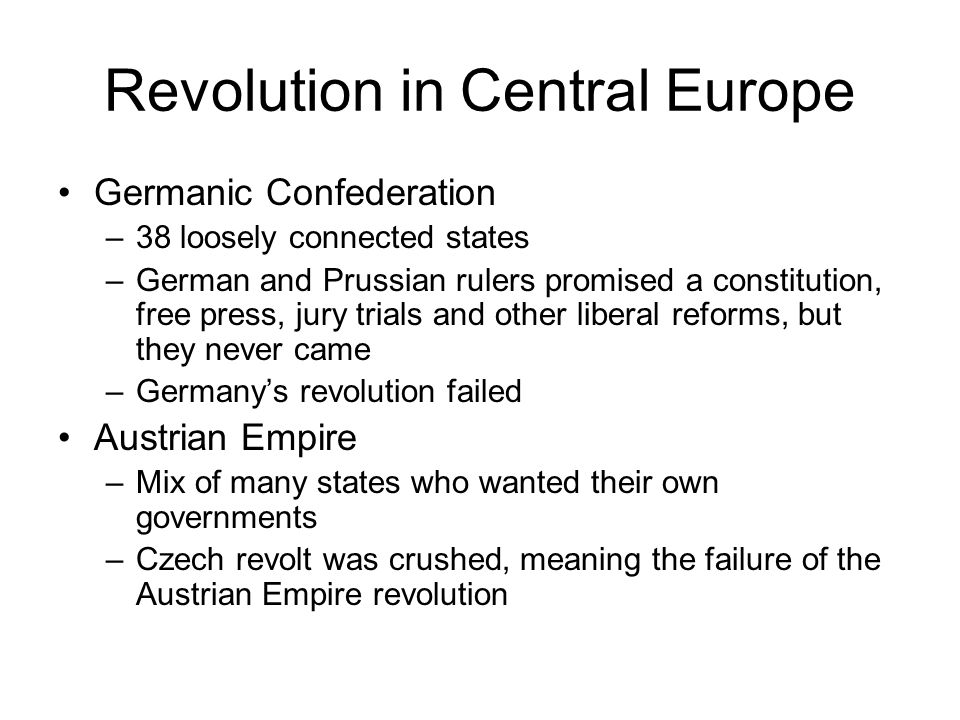 Revolution in Central Europe