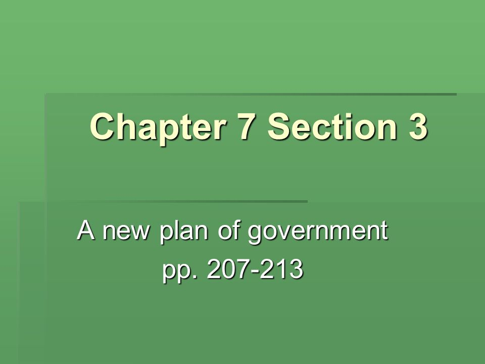 A new plan of government pp