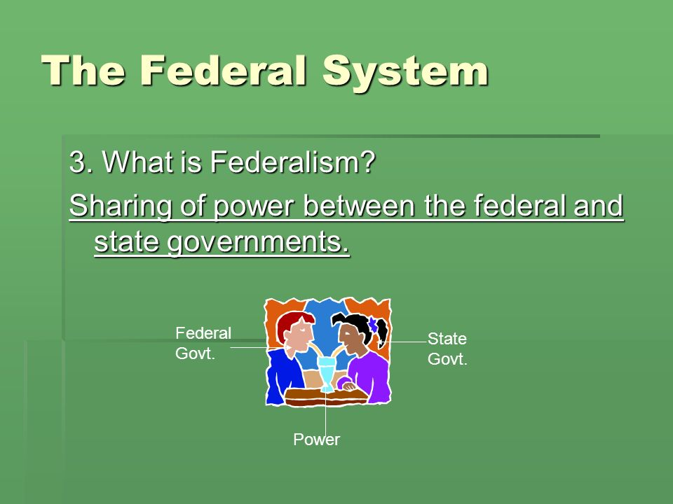 The Federal System 3. What is Federalism