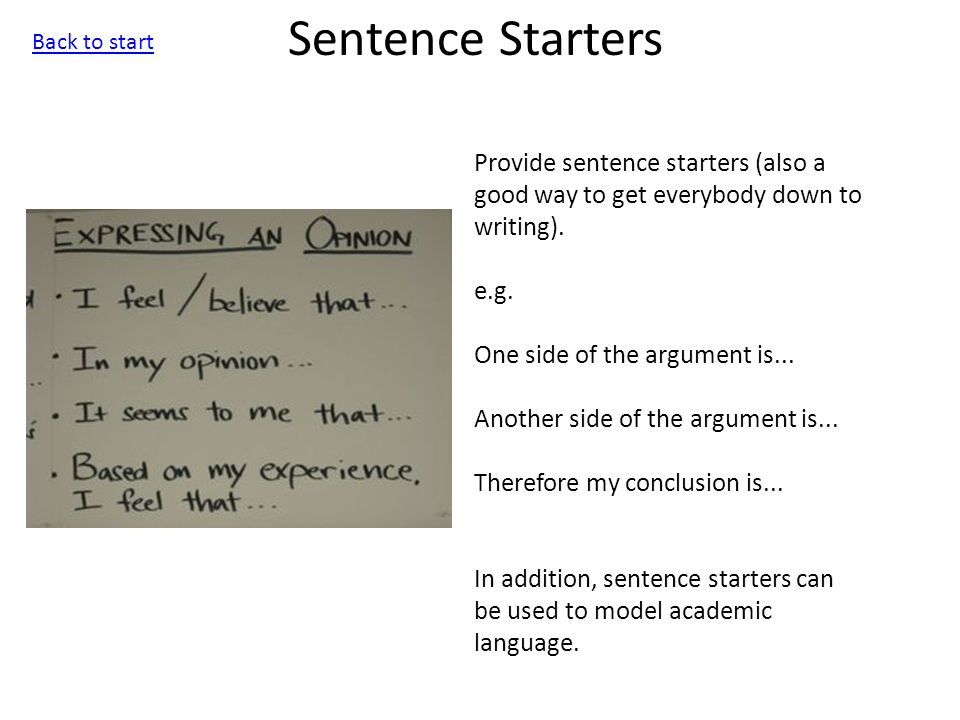 best ways to start a sentence in an essay Best picks books is it acceptable to begin a sentence with the word and or but i'm in the re-reading my essay, there's a few buts at the start of a few.