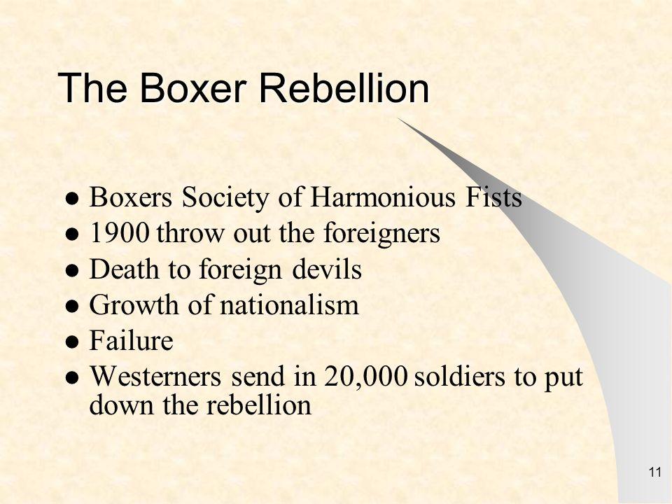 The Boxer Rebellion Boxers Society of Harmonious Fists