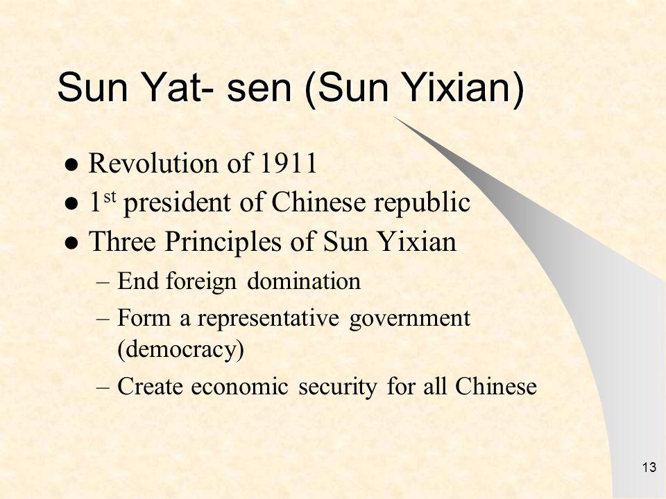 Sun Yat- sen (Sun Yixian)