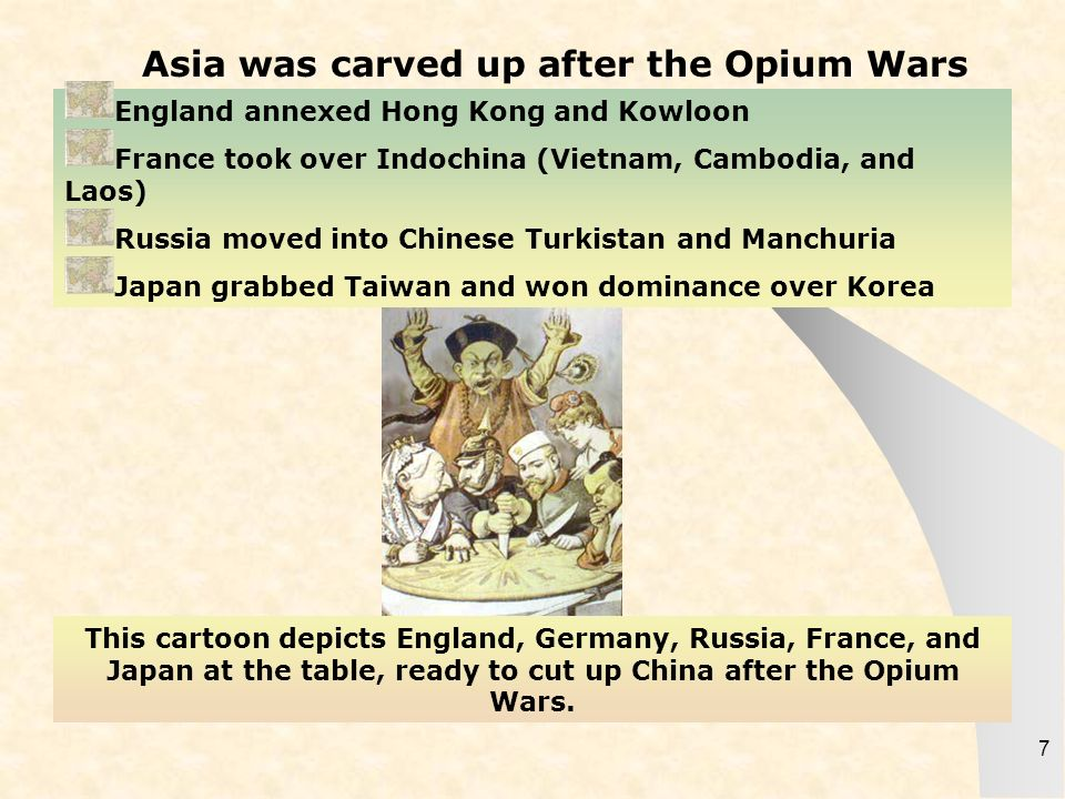 Asia was carved up after the Opium Wars