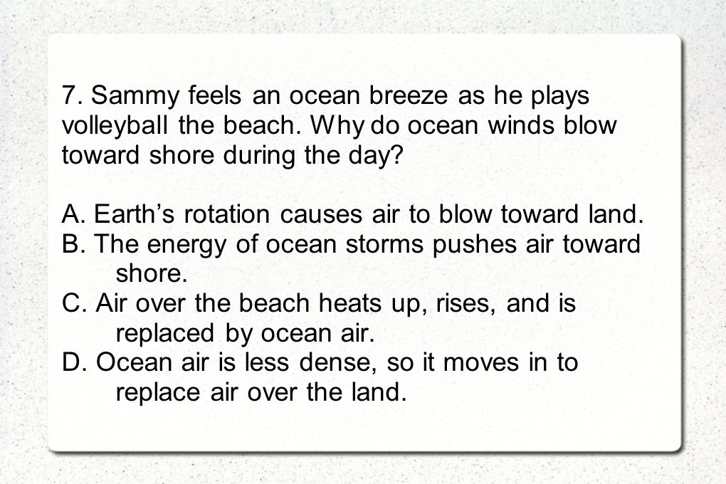 7. Sammy feels an ocean breeze as he plays volleyball the beach