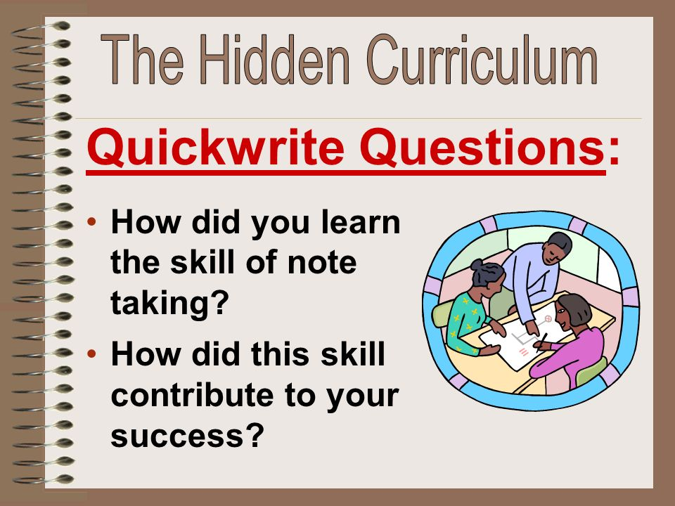 Quickwrite Questions: