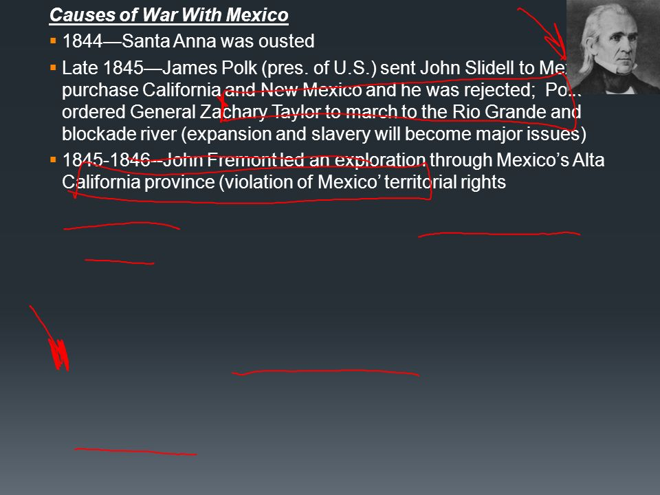 Causes of War With Mexico