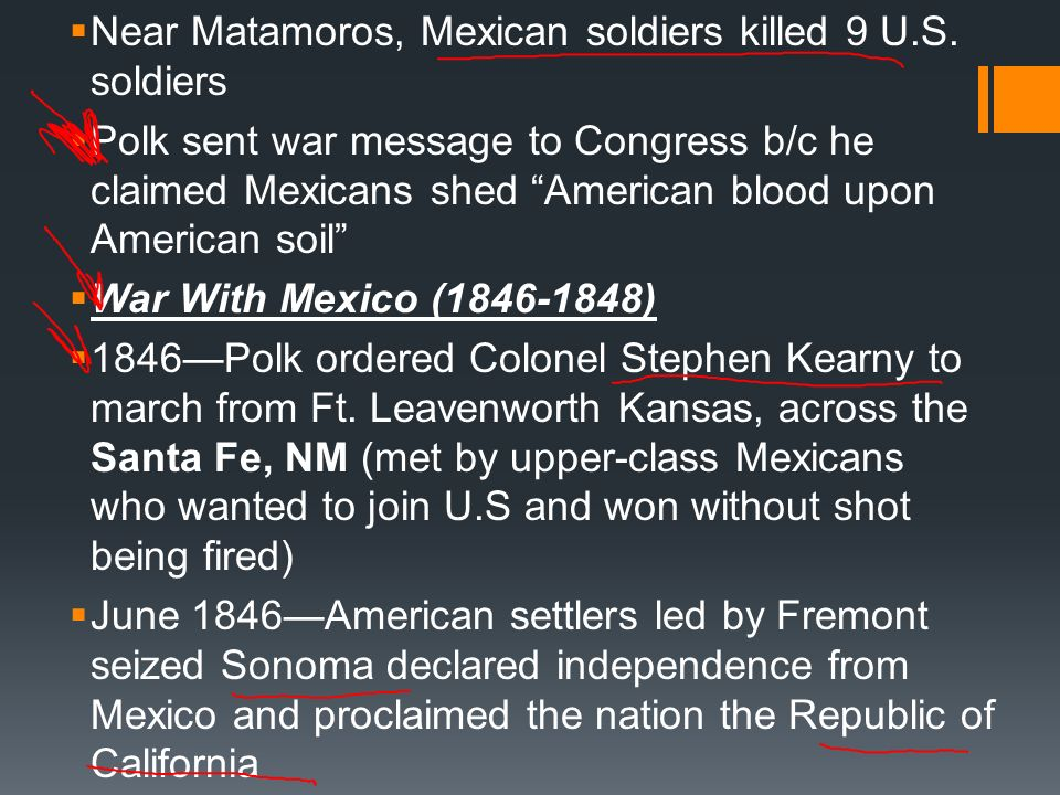 Near Matamoros, Mexican soldiers killed 9 U.S. soldiers