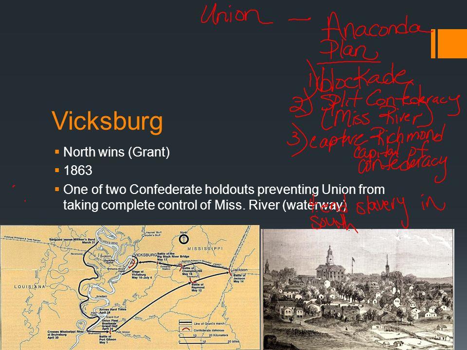 Vicksburg North wins (Grant) 1863