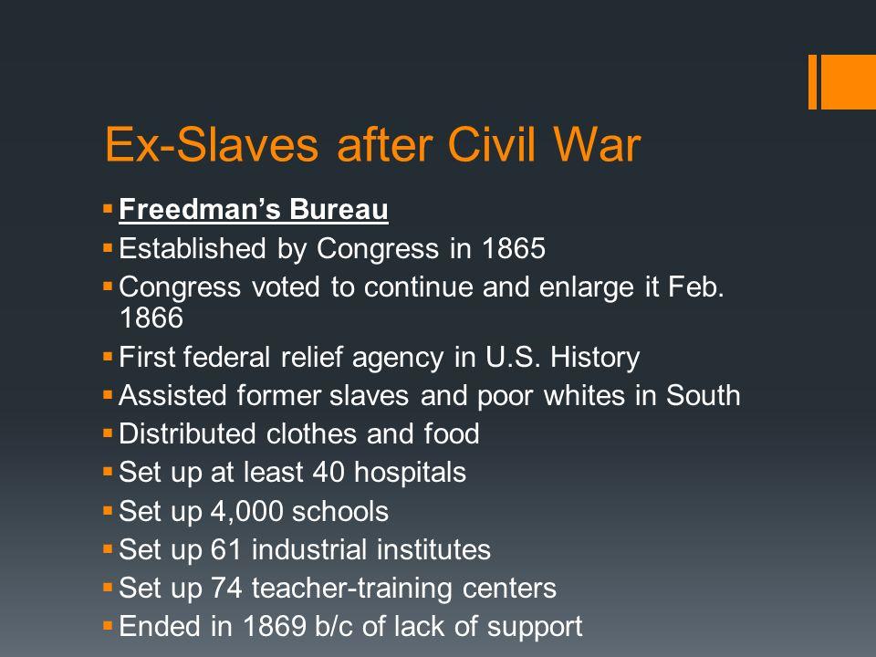 Ex-Slaves after Civil War