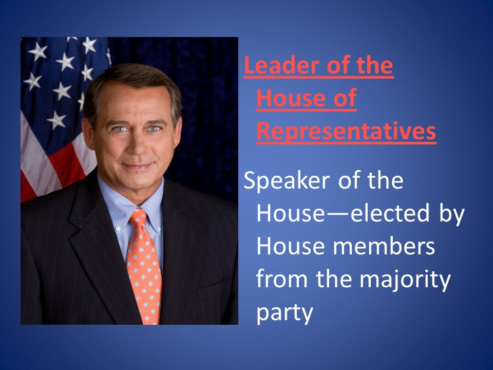 Leader of the House of Representatives