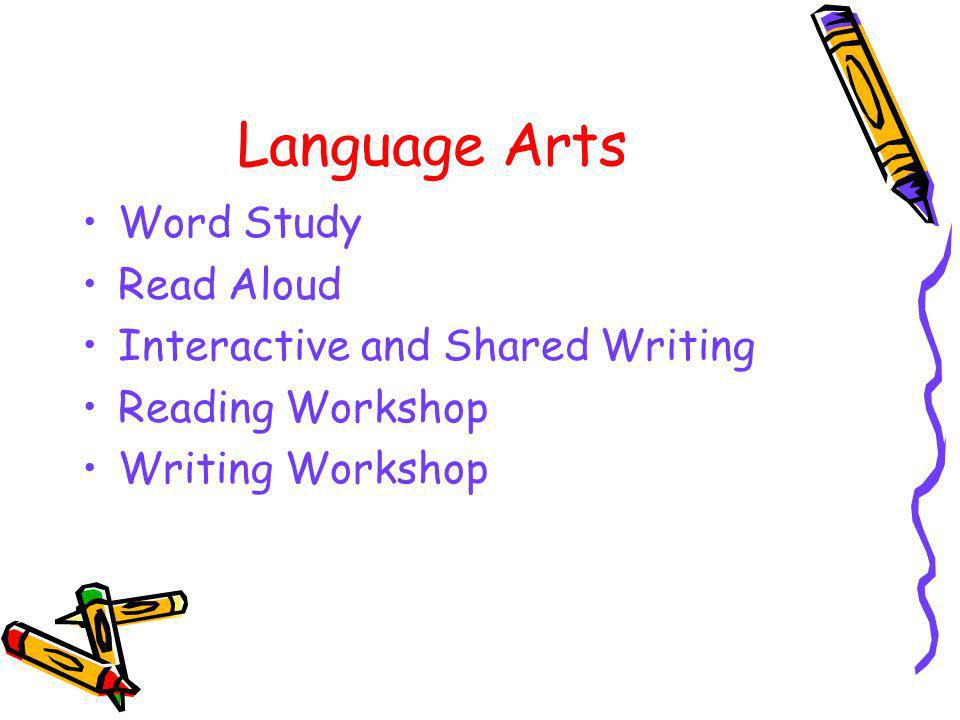 Language Arts Word Study Read Aloud Interactive and Shared Writing