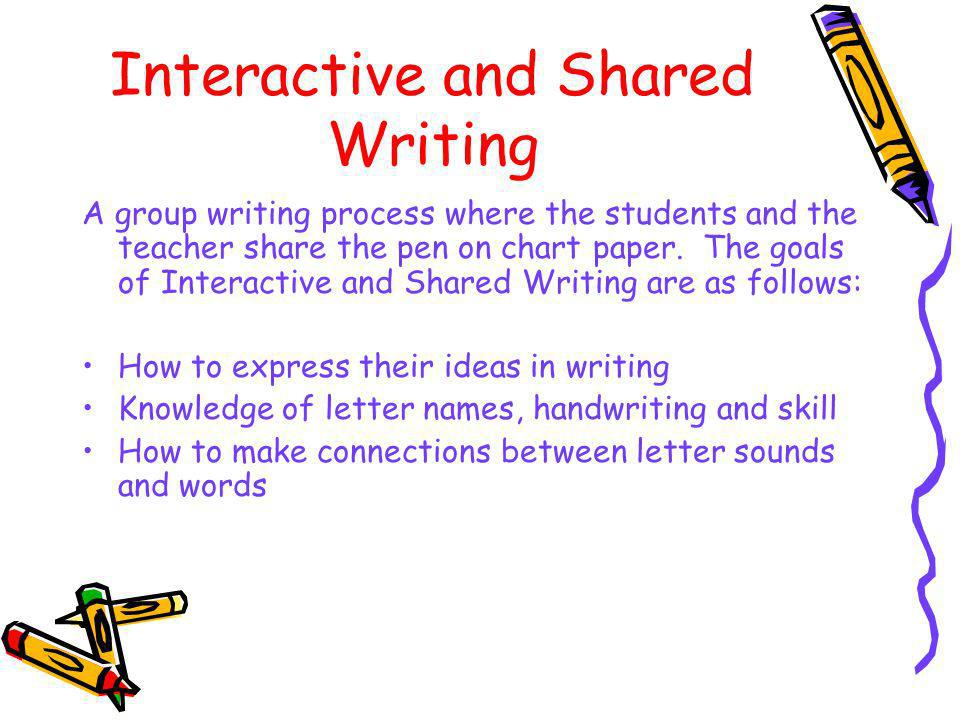 Interactive and Shared Writing
