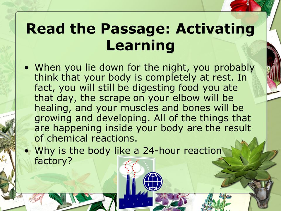 Read the Passage: Activating Learning
