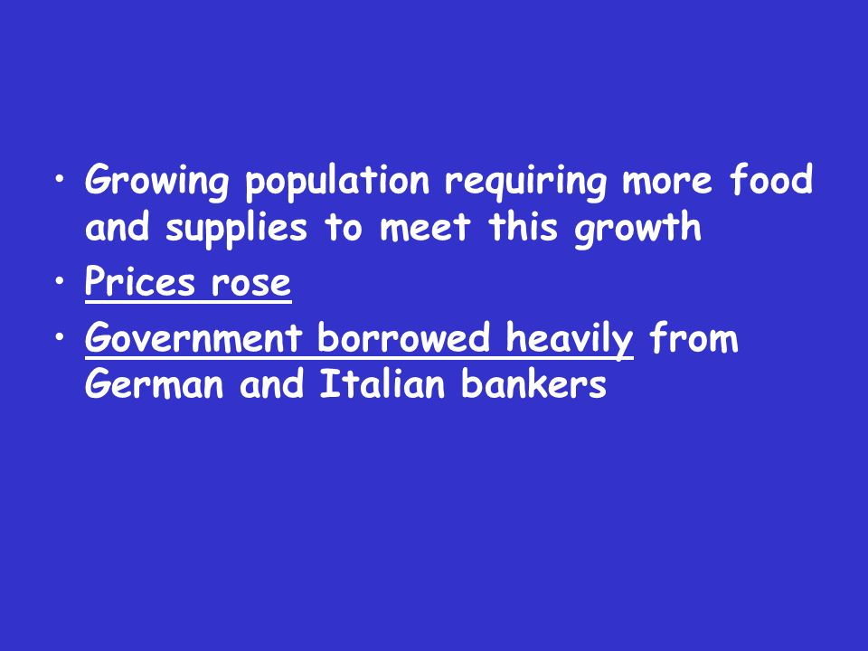Growing population requiring more food and supplies to meet this growth