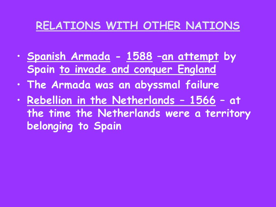 RELATIONS WITH OTHER NATIONS