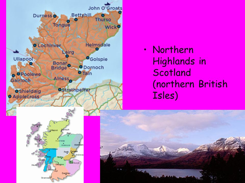 Northern Highlands in Scotland (northern British Isles)